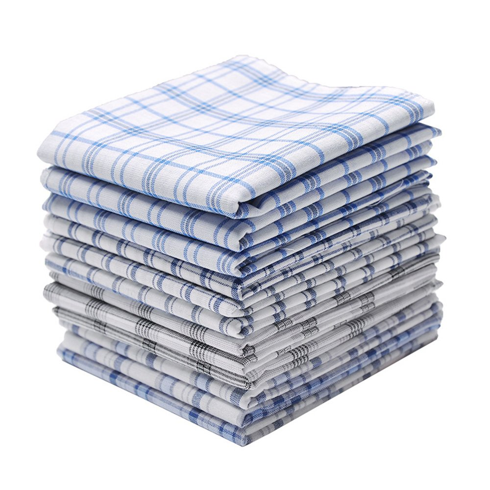 Neatpal 100% Cotton Men's Handkerchiefs Check Pattern Hankies