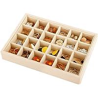 Recet Sieradendoos, stapelbare sieradendoos van fluweel met gelaagde scheidingswanden, gebruikt voor ringen, oorbellen…