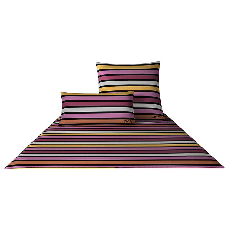 Joop  Bettwäsche Limited Cross Stripes 4049 Fb. 1 - Fuchsia Größe  155 x 220 cm