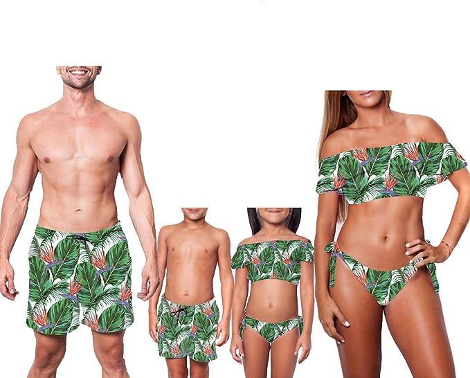 Amazon.com: Bañador para bebé, niño, niña, padre, hijo ...
