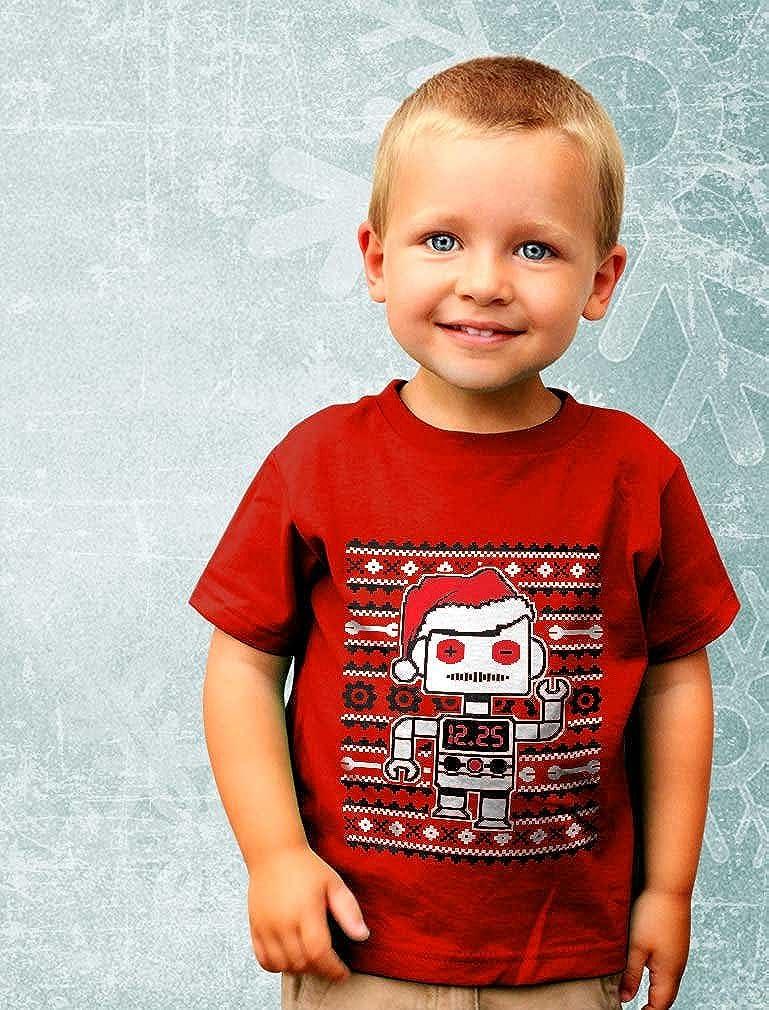 Big Santa Robot Ugly Christmas Sweater Funny Toddler//Infant Kids T-Shirt