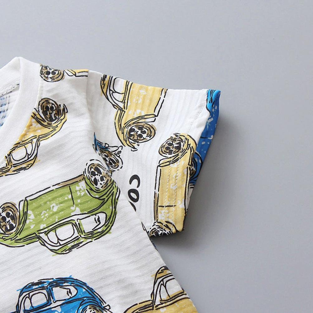 DIGOOD for 1-4 Years Old,Toddler Baby Boys Cars Print T-Shirt+Shorts,Children 2Pcs Fashion Outfits Summer Clothes Sets