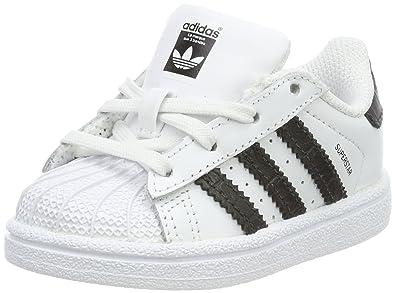 94d3aa7df33 adidas Unisex Baby Superstar Sneaker Weiß (Footwear White/Core Black) 20 EU