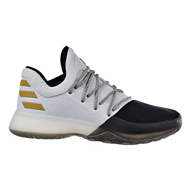 b074f3f8eda90 adidas Kids Unisex Harden Vol. 1 (Big Kid) White/Black/Bold Gold 5 M ...