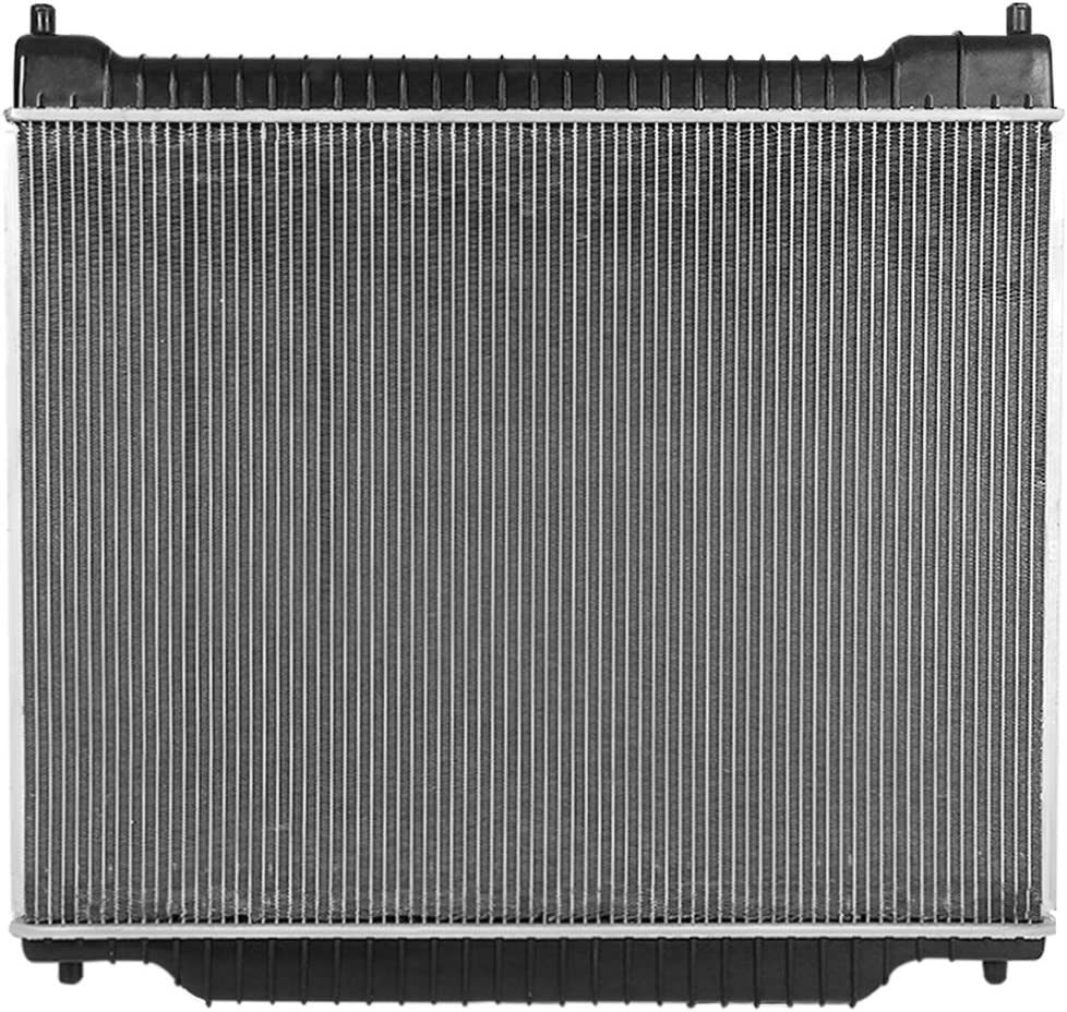 Black//Metallic DNA MOTORING OEM-RA-1725 1725 Factory Style Aluminum Cooling Radiator Replacement Fit 1995-1997 F150 F250 F350 7.3L