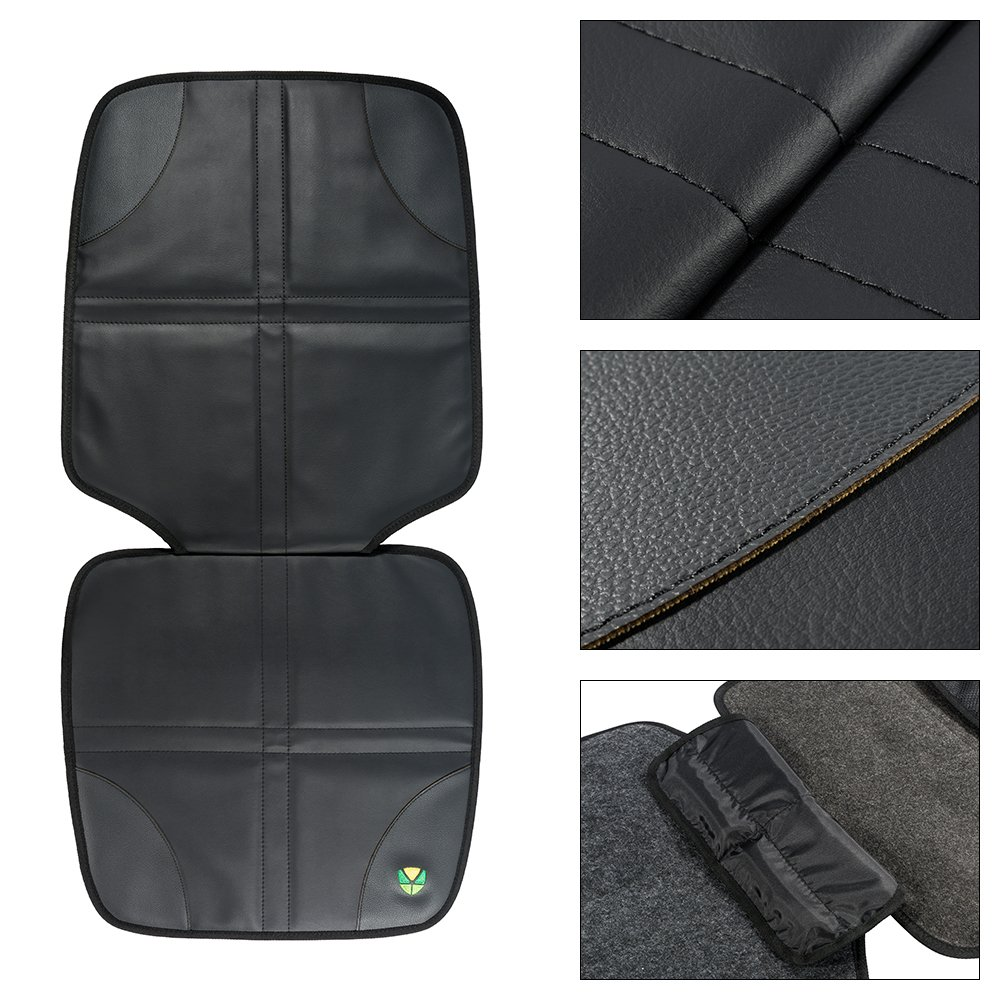 FREESOO Car Seat Protector Cover for Child /& Baby Cars Seats Universal Leather Non-Slip Seat Cushion Waterproof Dog Mat 2 Pack