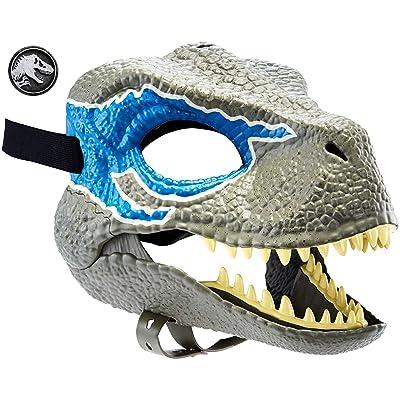 Jurassic World Máscara de dinosaurio Velociraptor Blue, juguetes niños +4 años (Mattel GCV81): Juguetes y juegos