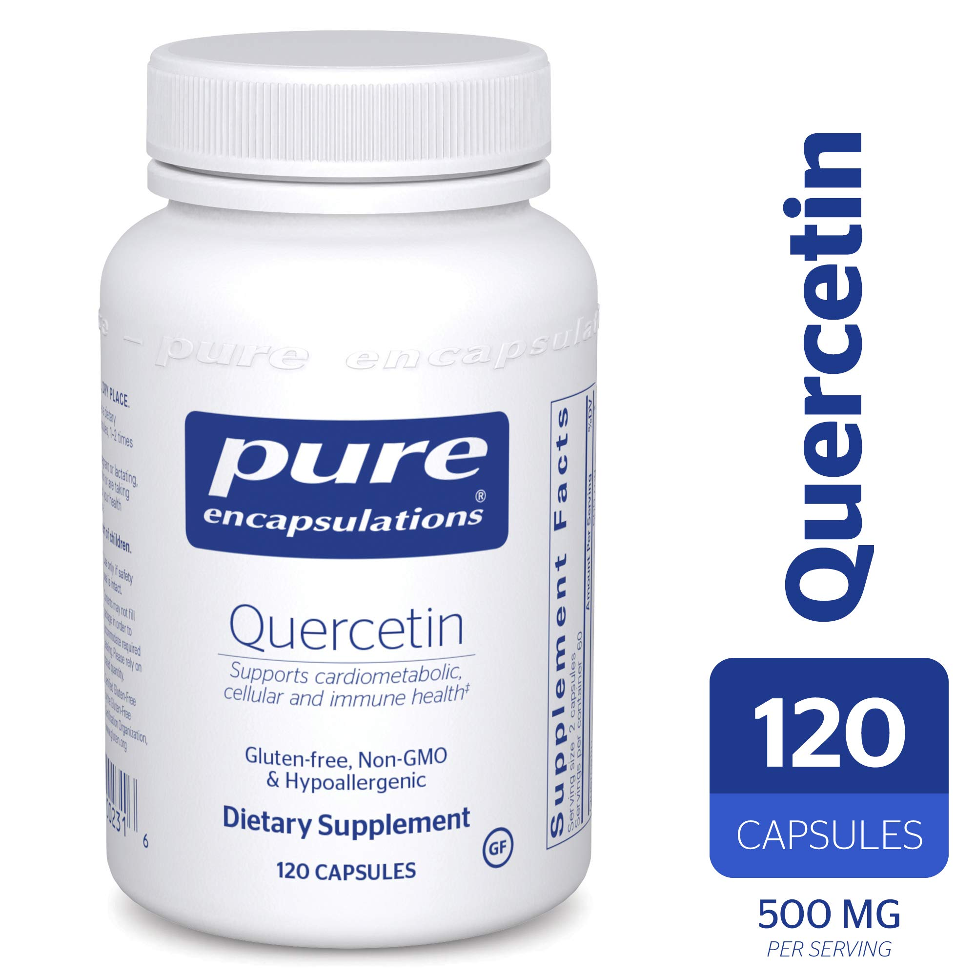 Pure Encapsulations - Quercetin - Hypoallergenic Supplement with Bioflavonoids for Cellular, Cardiometabolic and Immune Health* - 120 Capsules by Pure Encapsulations