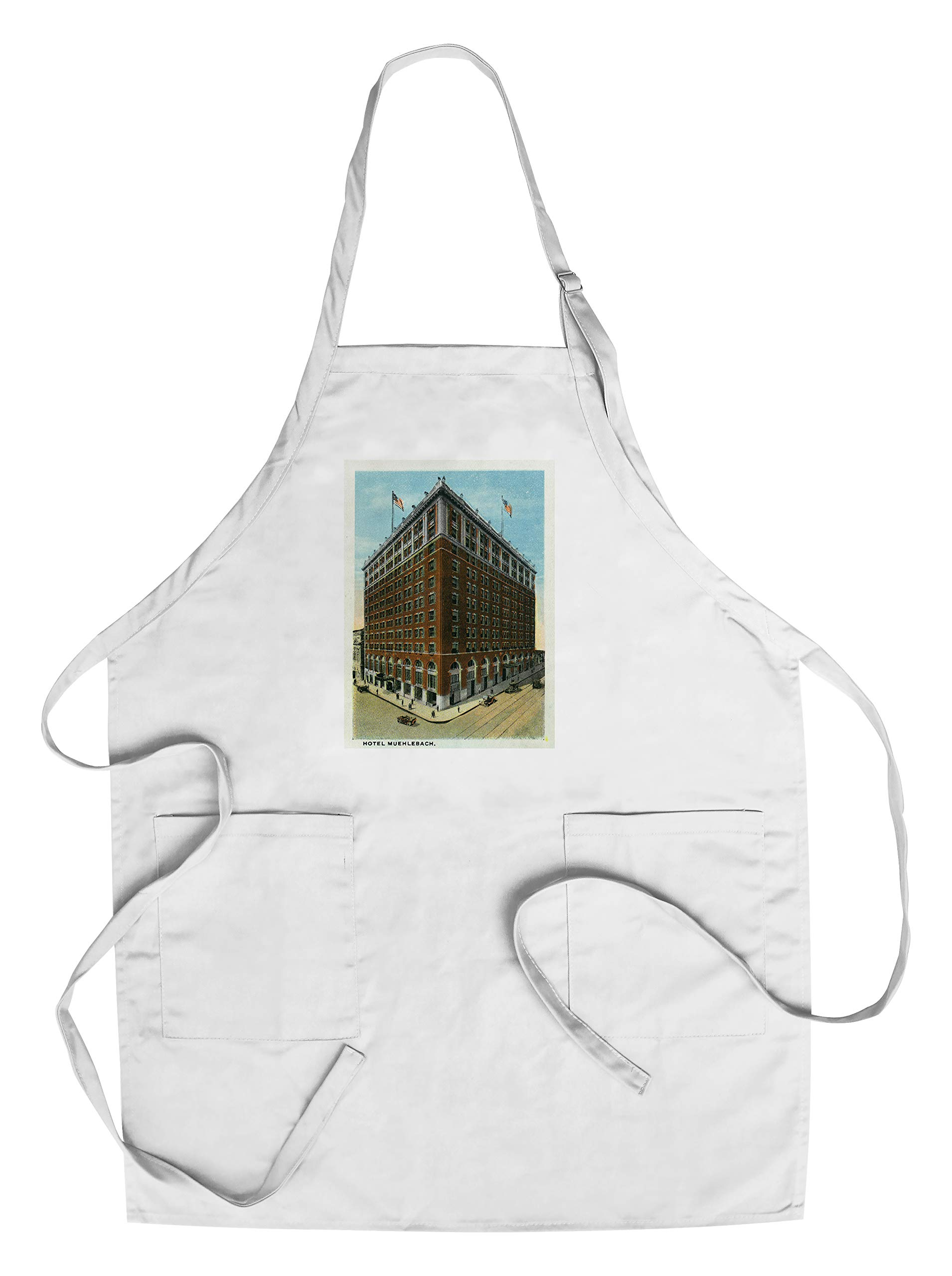 Minneapolis, Minnesota - Exterior View of the Hotel Muehlebach (Cotton/Polyester Chef's Apron)