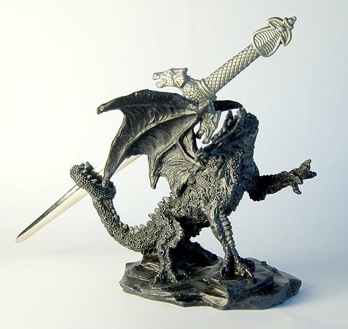 Amazon.com: Stock4u Dragón Ornamento con espada abrecartas ...