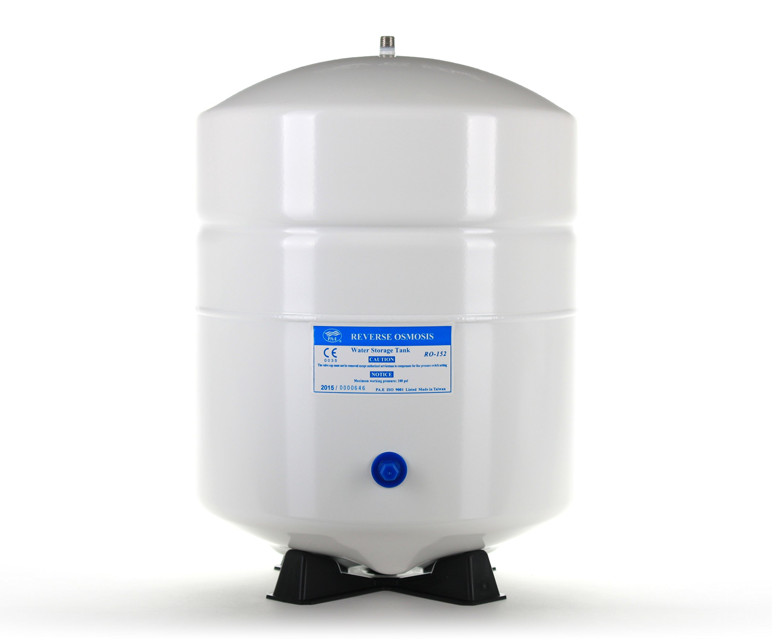 Hydronix RO-152-W14 Reverse Osmosis 6 Gallon (5.5 Draw-Down) Water Tank - White, 1/4'' Port