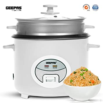 0ec40c4188f Geepas 1.8L Rice Cooker with Steamer
