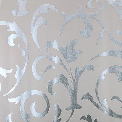 Luxton Acanthus Scroll Wallpaper Textured Victorian Damask Unpaste Home Decor Renovation