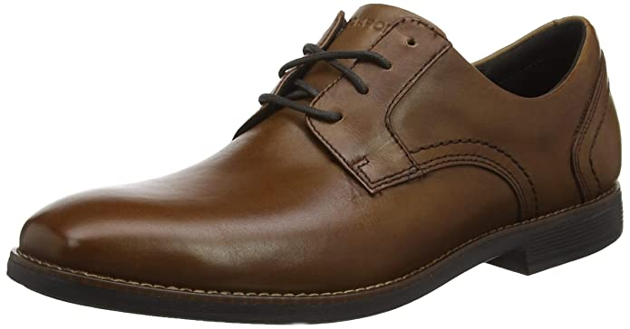 Oxford Toe Slayter Cordones Hombre Para Plain De Zapatos Rockport awHqH