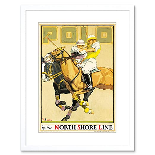 Wee Blue Coo North Shore Line Railway Polo Sport Horse Framed Art ...