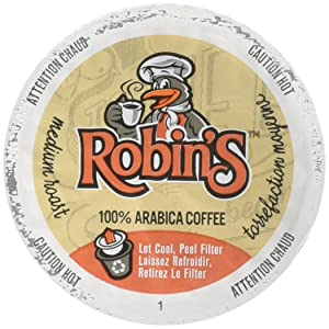 Robin's Medium Roast Coffee, Keurig K-Cup Brewer Compatible Pods, 12 Count (Pack of 6)