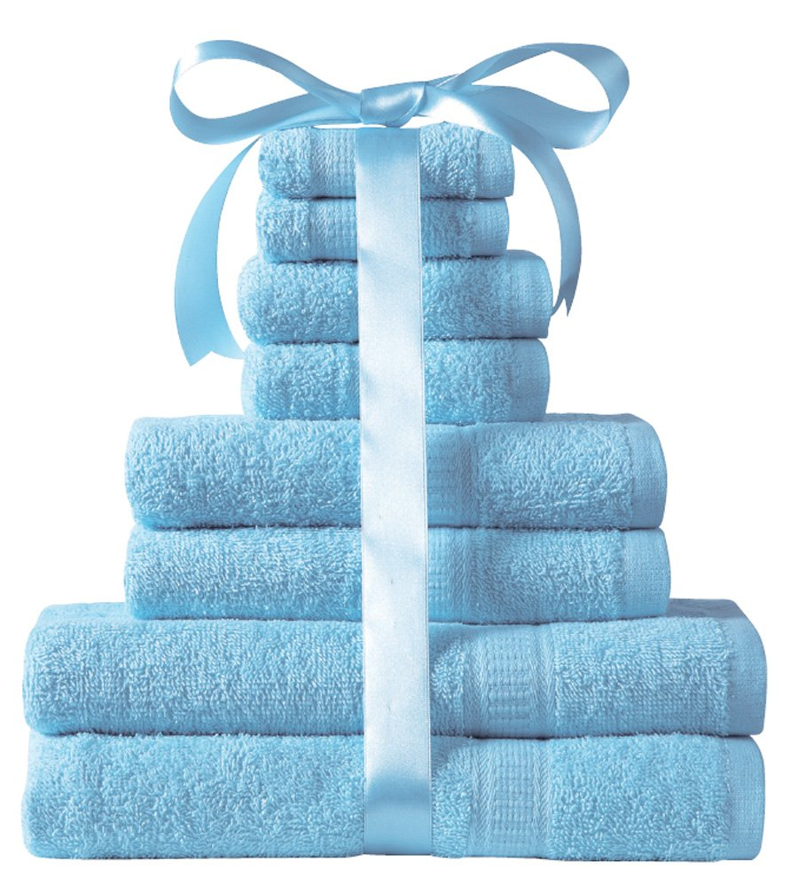 Kingsley 8-Piece Towel Bale (aqua) .