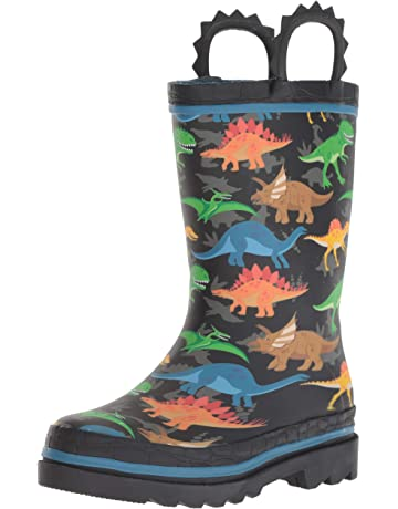 0e6083649db6 Western Chief Boys Waterproof Printed Rain Boot with Easy Pull on Handles