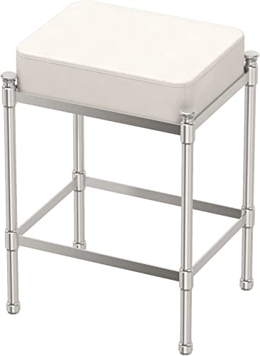 Gatco 1357 Rectangle Vanity Stool, 19.5 H, Satin Nickel