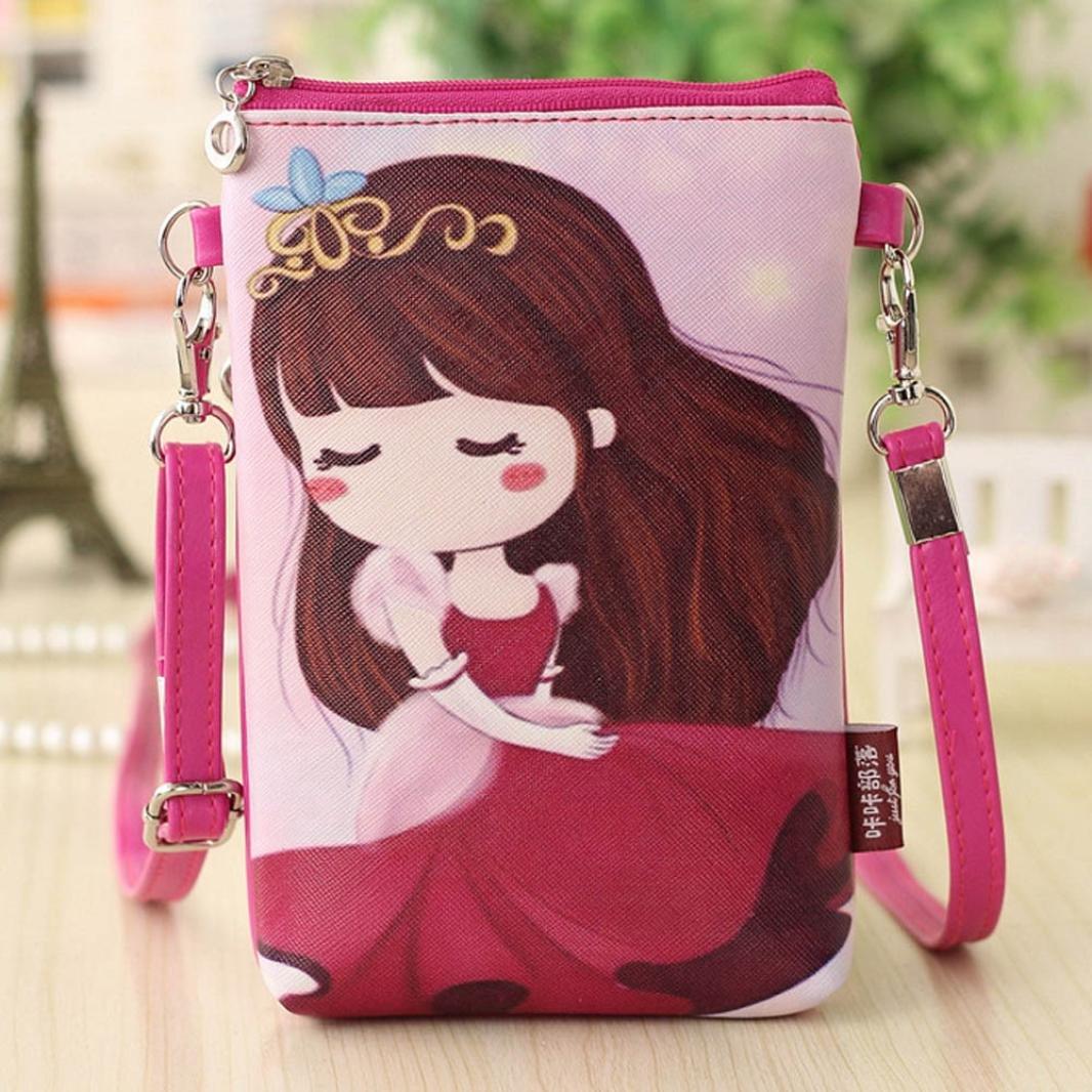 Womail Kids Cute Cartoon Shoulder Bag Satchel Cross Body For Girl A