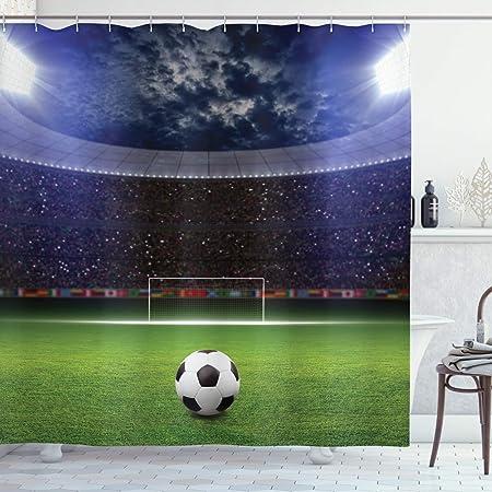 Ambesonne Sports Decor Collection, balón de fútbol el estadio ...