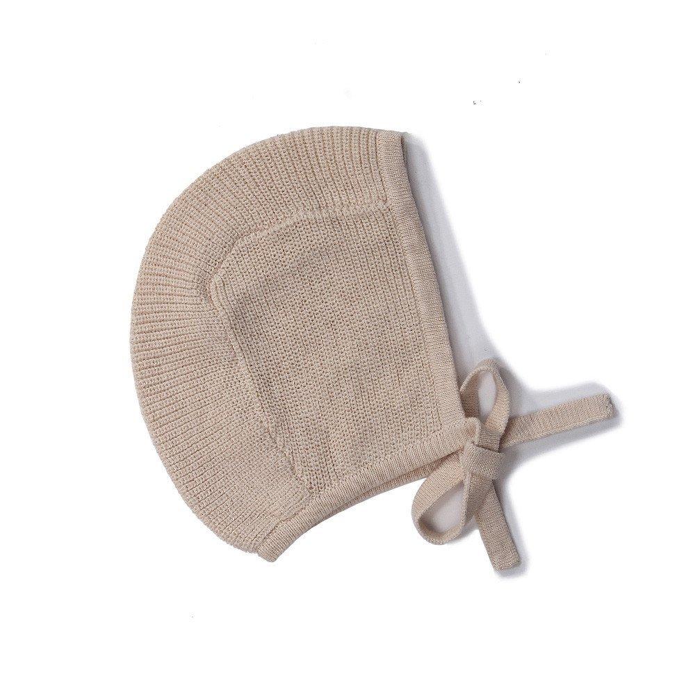 Baby Toddler 100% Cotton Knit Hat Bonnet Pilot Light Pink Neutral