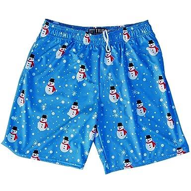 936bcca3c98a3 Snowman Christmas Winter Holiday Lacrosse Shorts, Carolina Blue, Youth  X-Small