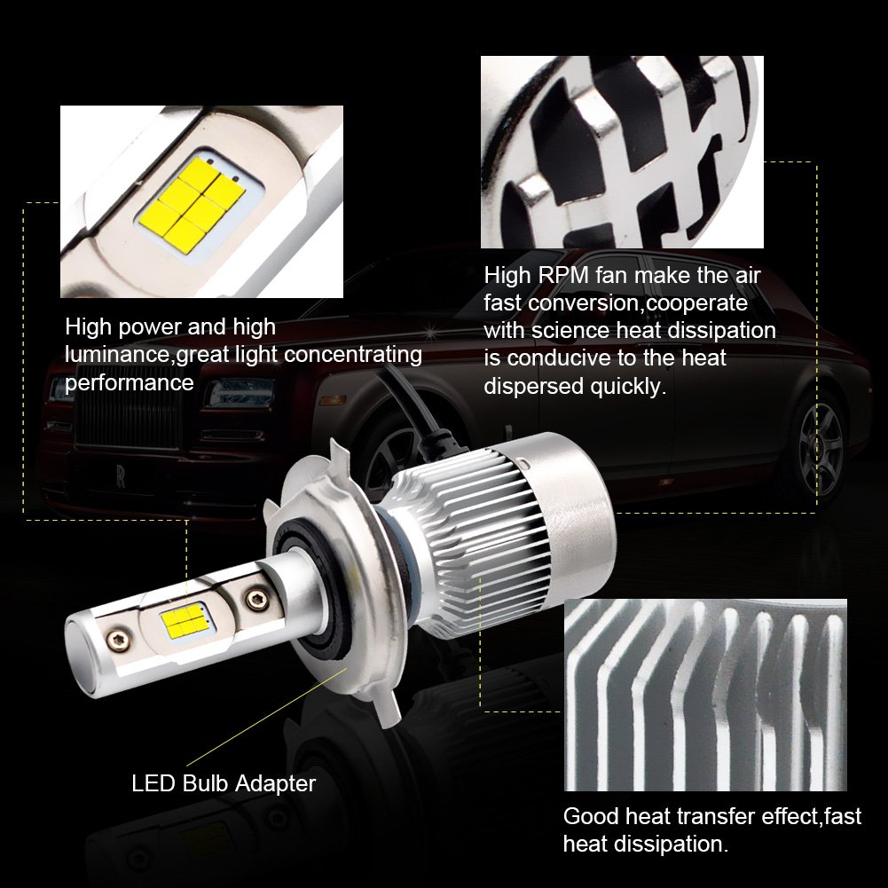 LncBoc T10 LED Bulbs W5W 194 168 Wedge Bulb Super Bright White 30-SMD 3014 LED Car Interior Lights Number Plate Dome Boot Side Lights Pack of 2