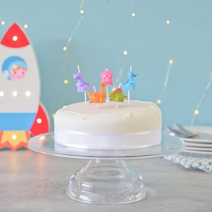 Smiling Faces Velas de la Torta de cumpleaños del Partido del Dinosaurio