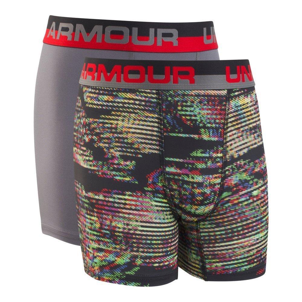Under Armour UA Original Series Static Print Boxerjock 2-Pack YLG Graphite