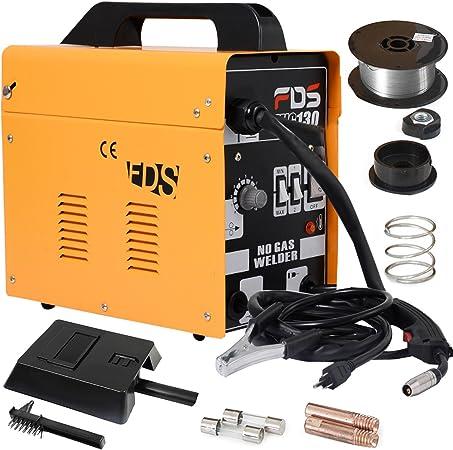 à vendre grand assortiment hot-vente dernier Poste à souder inerte gaz inerte MIG 130 électrode de soudage fil fourré  (Orange)