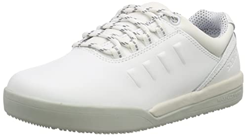 Sanita San-Chef Lace Shoe-S2, Zapatos de Seguridad Unisex Adultos, Blanco (White 1), 46 EU