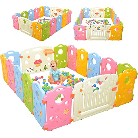 Playpen Activity Center for Babies and Kids – Multicolor 16-Panel Set Play Yard