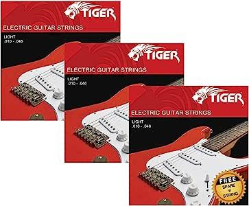 Tiger - Cuerdas para guitarra eléctrica – Pack de 3 juegos de ...