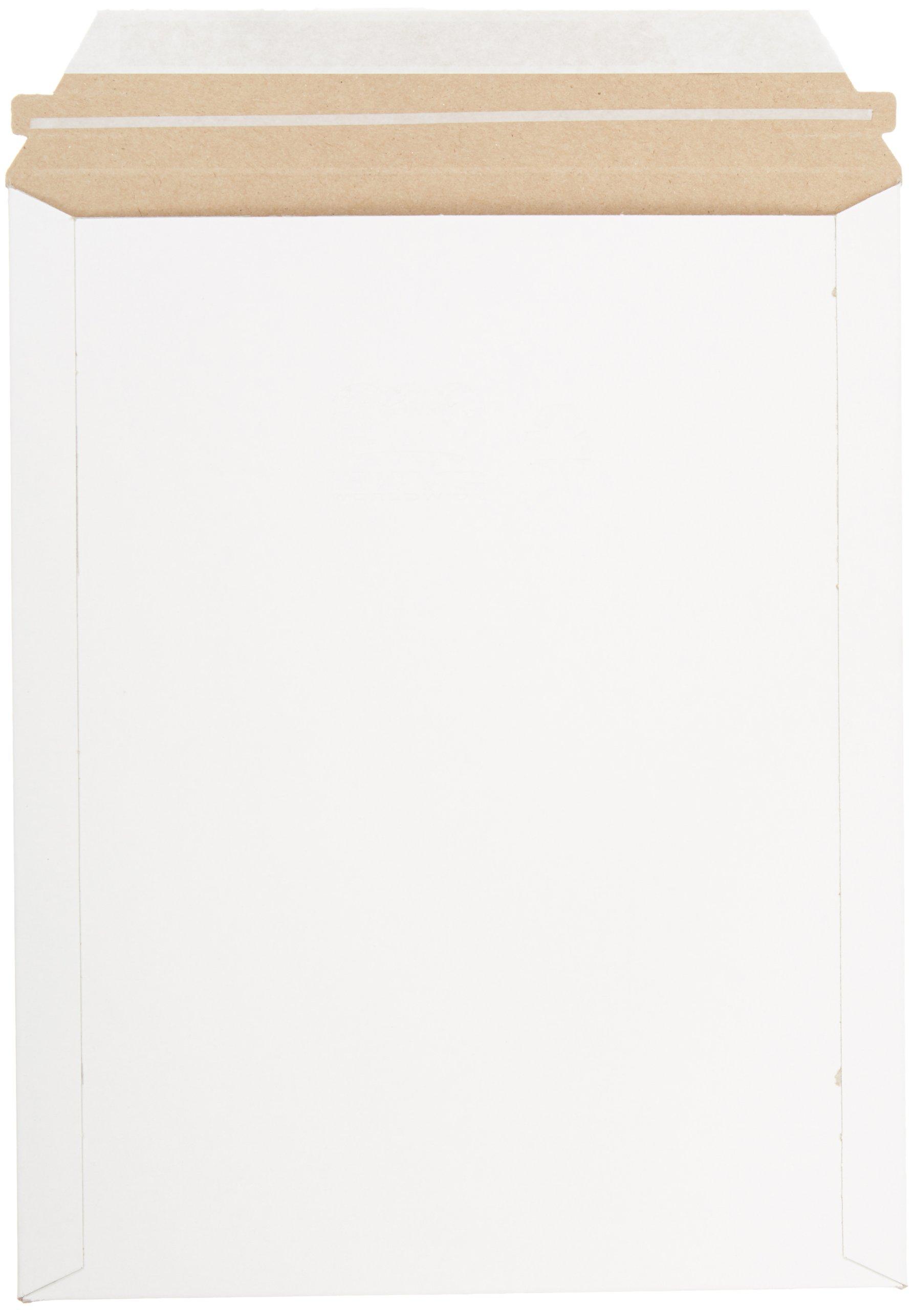 Pratt MJ-4 Self-Seal Stay Flat Mailer, White, 9.75'' x 12 1/4'' (Pack of 100)