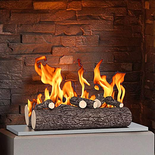 "Amazon.com: Regal Flame 5 Piece 16"" Ceramic Wood Gas Fireplace ..."