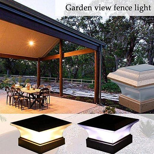 Funihut Jardín Exterior con energía Solar LED, Corte Villa Peg Light, lámpara Cuadrada de Paisaje, 1 Unidad de 28 LM, Panel Solar: Poli-silicio 2 V/150 mA: Amazon.es: Hogar