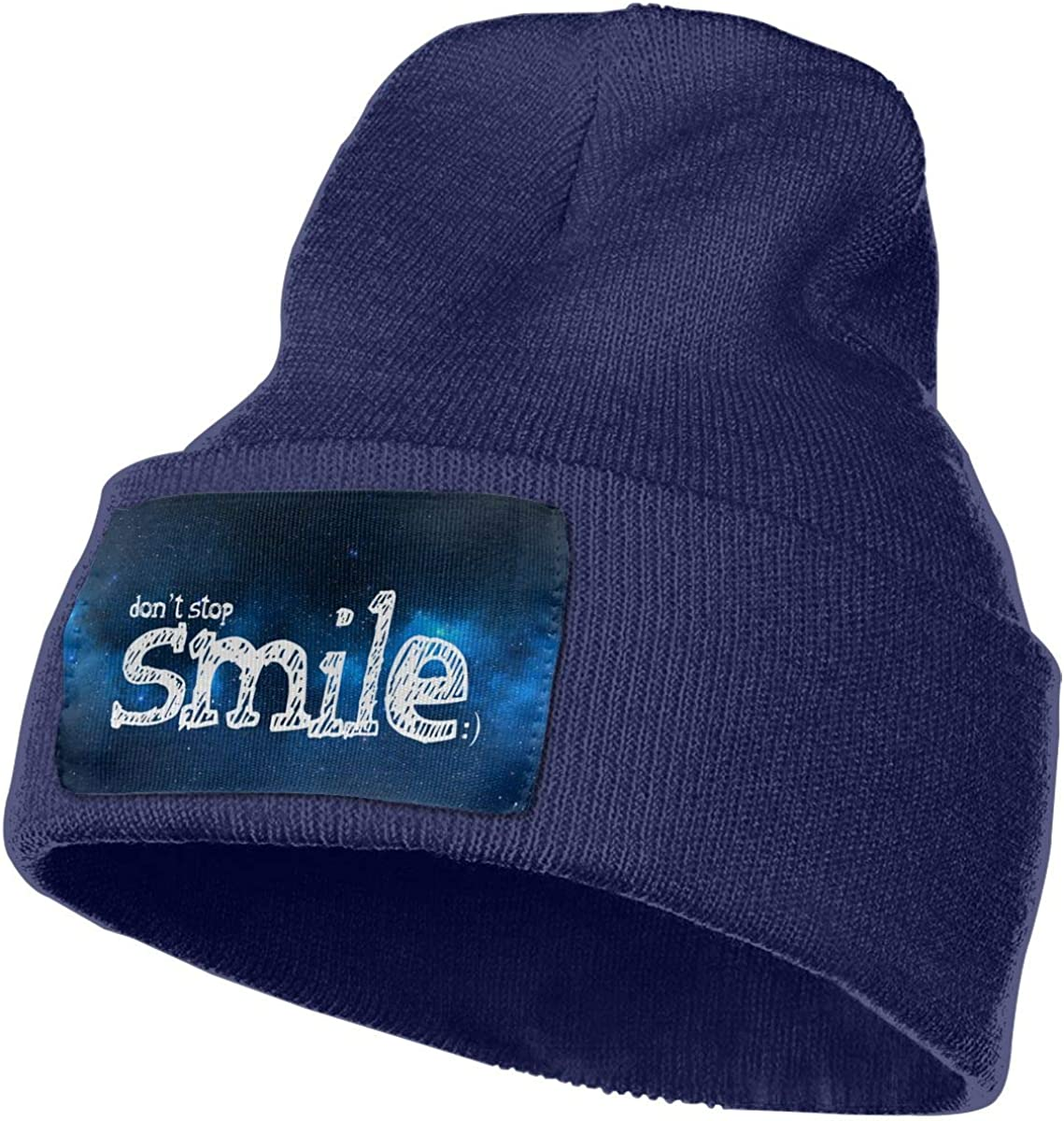Helidoud Dont Stop Smile Winter Beanie Hat Knit Skull Cap for for Men /& Women
