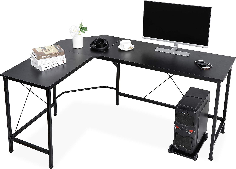 L-Shaped Corner Computer Desk PC Laptop Table Workstation Home Office Furniture