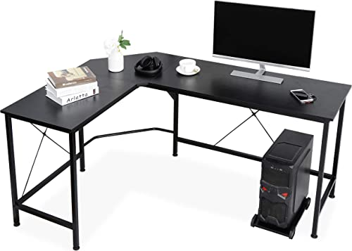 ZenStyle Modern L-Shaped Corner Computer Desk 66″ Home Office PC Laptop Table Multipurpose Gaming Workstation