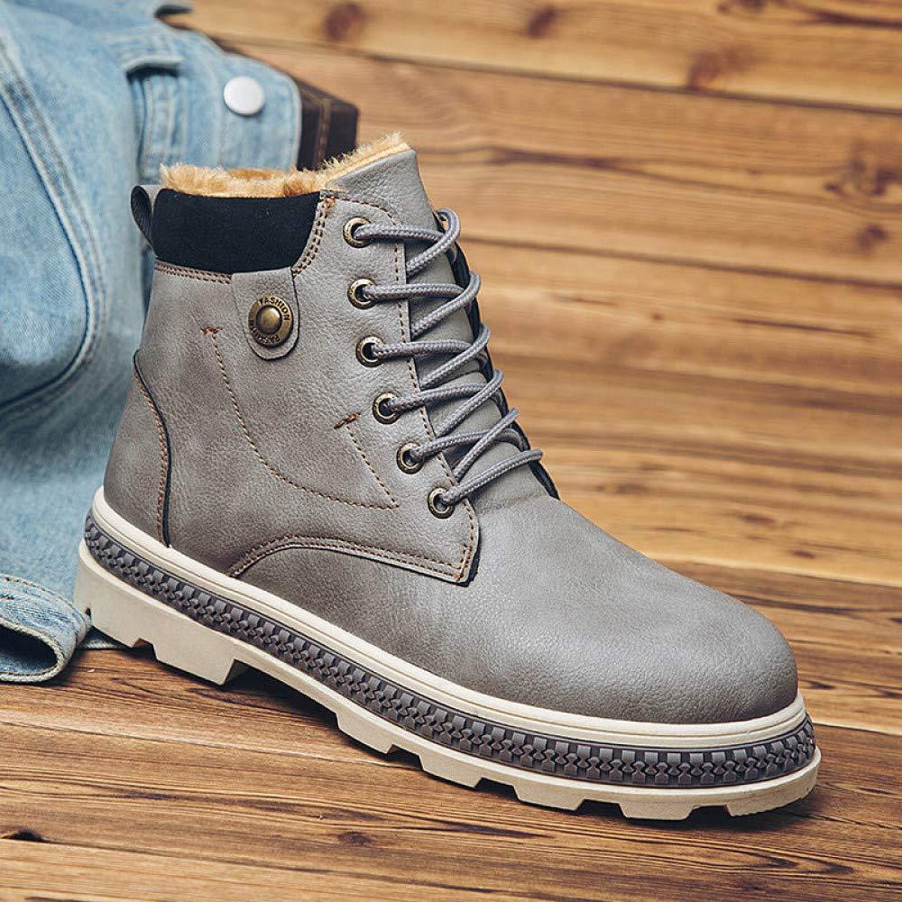 FHCGMX Männer Schnee Stiefel Herbst Winter Retro Retro Retro Stil Leder halten warm militärstiefel Wasserdichte Arbeitsstiefel 0f4f32