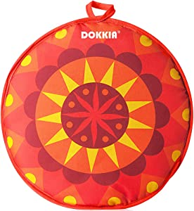 DOKKIA Tortilla Warmer Taco 12 Inch Insulated Cloth Pouch - Microwavable Use Fabric Bag to Keep Food Warm (12 Inch, Fiesta Sunburst Boho Mandala)