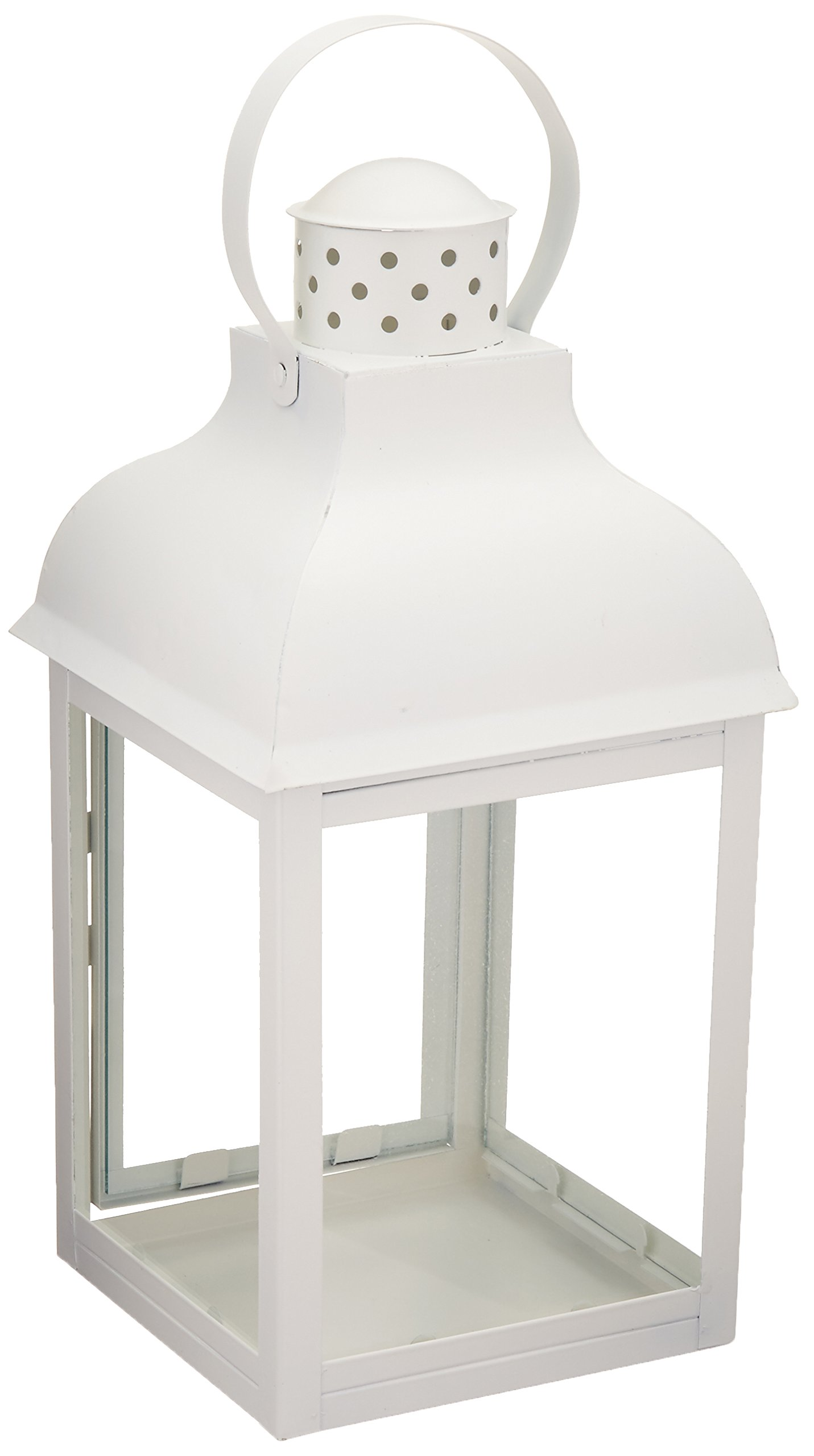 Romantic White Candle Lantern - 16 inches by Home Locomotion