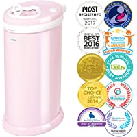 Ubbi Steel Diaper Pail, Light Pink