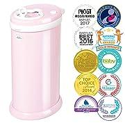 Ubbi Steel Odor Locking, No Special Bag Required Money Saving, Awards-Winning, Modern Design, Registry Must-Have Diaper Pail, Pink