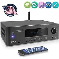 Pyle PT696BT - Receptor de Cine en casa con Bluetooth de 5.2-Ch Surround Sound Stereo Amplificador con 4K Ultra HD, Video 3D y BLU-Ray Video Pass-Through Soportes MP3/USB/AM/FM
