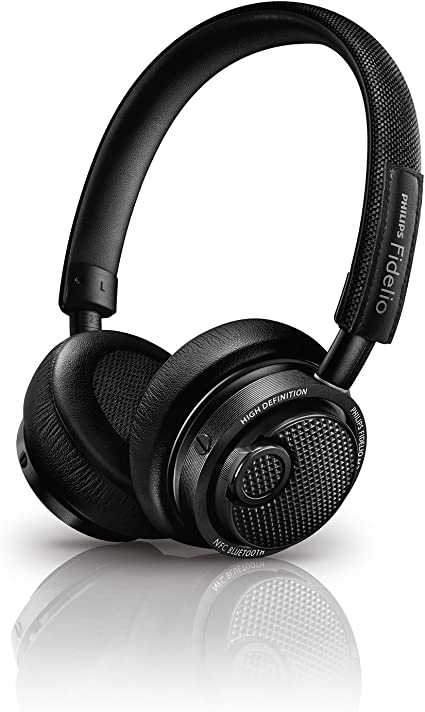 Philips M2BTBK/27 Fidelio Wireless Bluetooth Headphones, Black