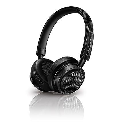 f76ef2c1480 Amazon.com: Philips M2BTBK/27 Fidelio Wireless Bluetooth Headphones, Black:  Home Audio & Theater