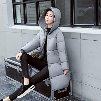 85eec151d2 MRX Winter Wear Feather Cotton Ladies Warm Cotton Ladies High-Grade Long  Paragraph Thickening Large Size Women  S Jacket