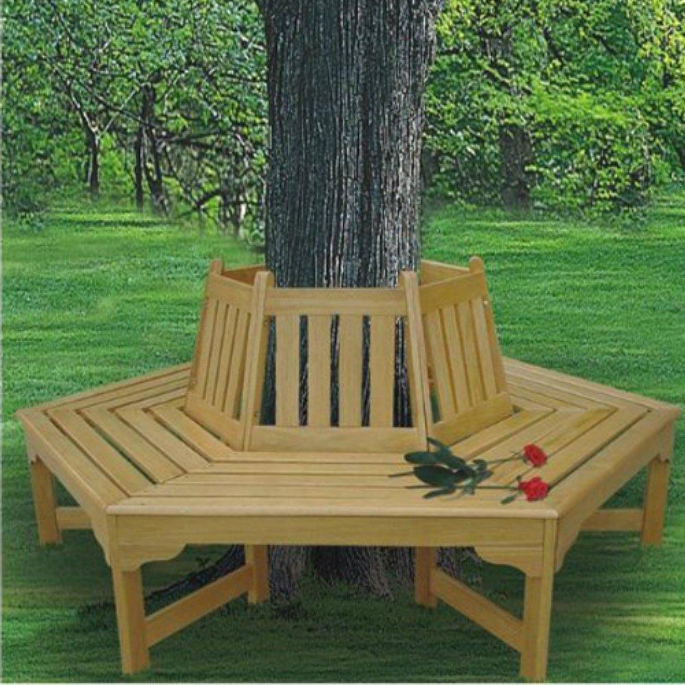 Super Amazon Com Tree Bench Seat Wood Outdoor Furniture Machost Co Dining Chair Design Ideas Machostcouk